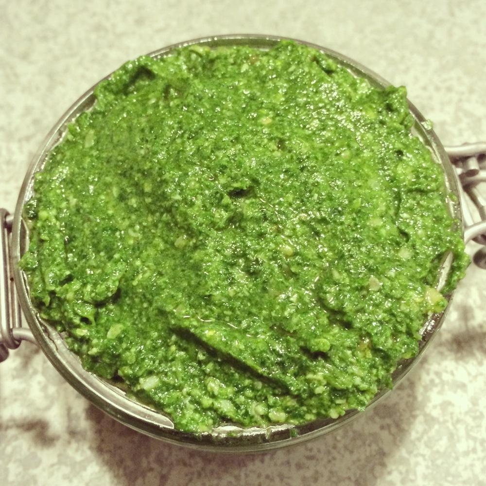 Stinging Nettles Pine Nuts Pesto Recipe - Hurts So Good — Bites ...