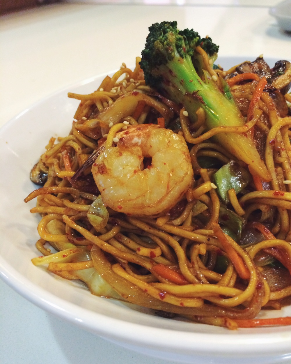 Shrimp Stir-Fry Noodle Bowl Made to Order