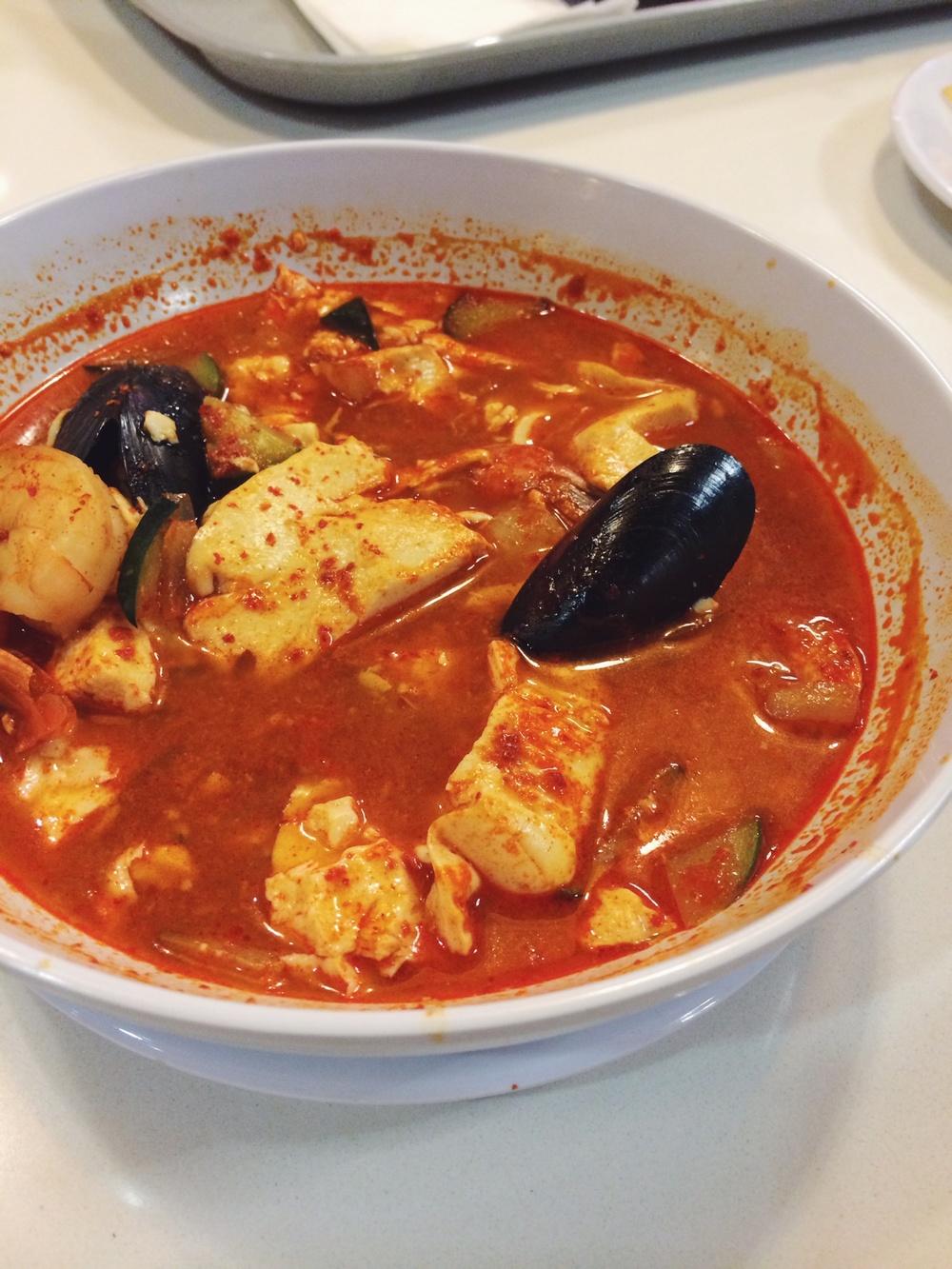 Soft Tofu Seafood Soup