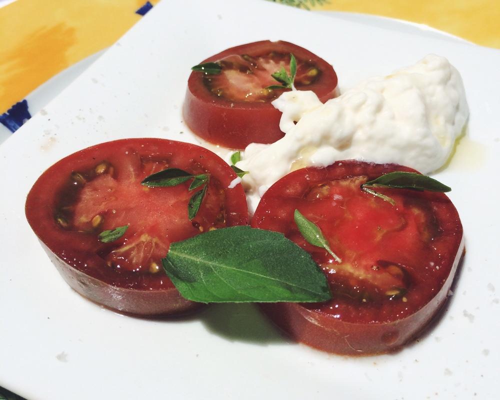 Tomato and Burrata