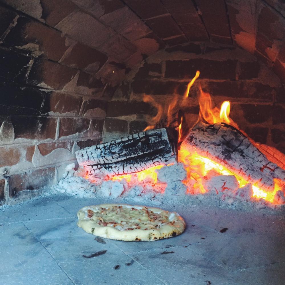 Inside Brick Oven - Pizza