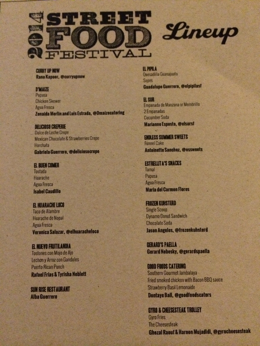 2014 SF Street Food Festival Menu - 2/5