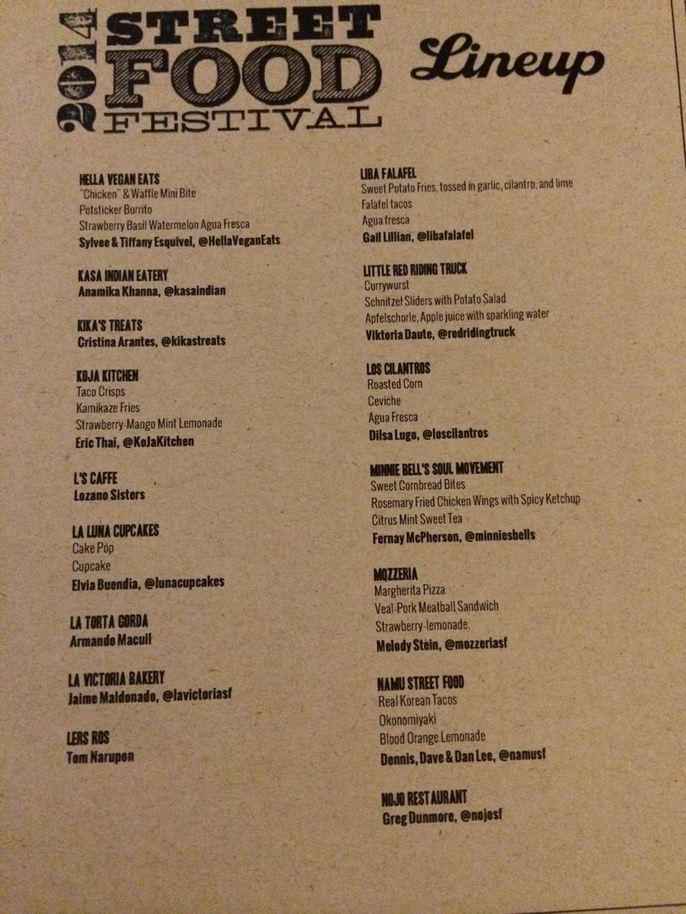 2014 SF Street Food Festival Menu - 5/5