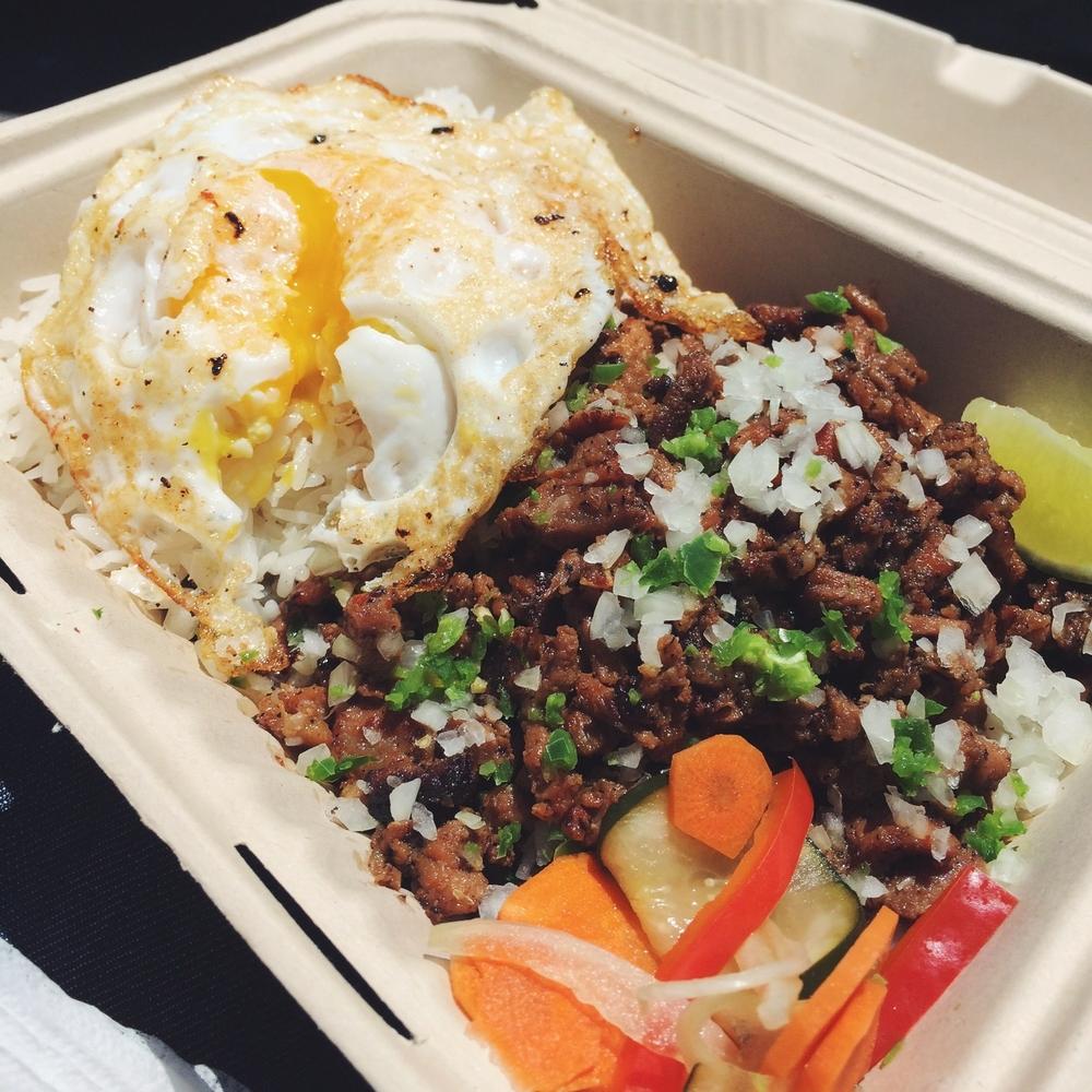 Senior Sisig - Pork Sisig with Fried Egg and Rice
