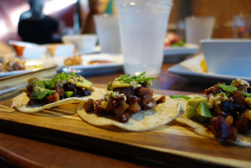 Plank - Pork Belly Tacos