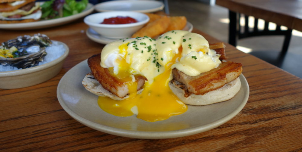 Townie Brunch Pork Belly Benedict - Berkeley