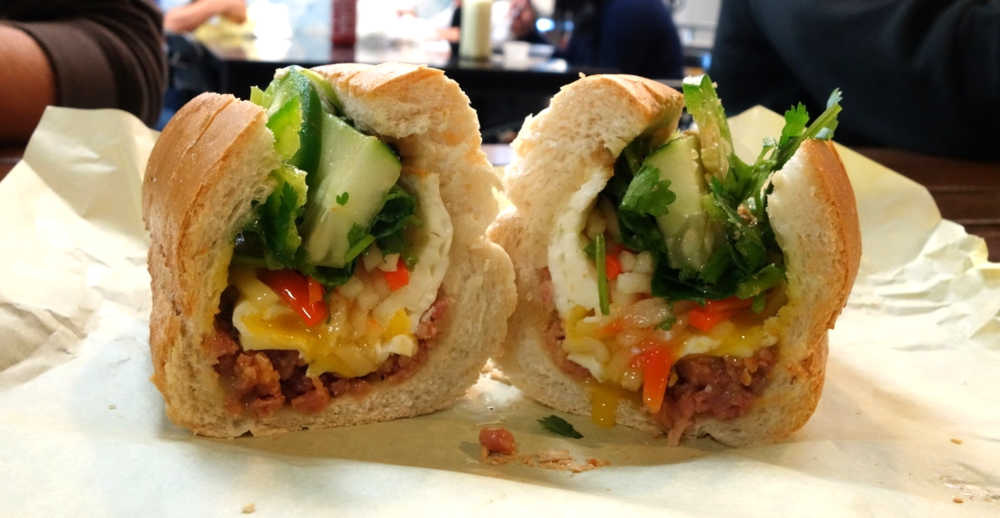 Banh Mi - Meatball with Egg - Banh Mi Ba Le Oakland