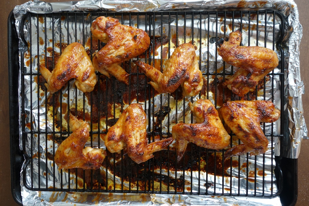 Sriracha Honey Butter Chicken Wings Recipe | Bites & Bourbon - Brenda Ton
