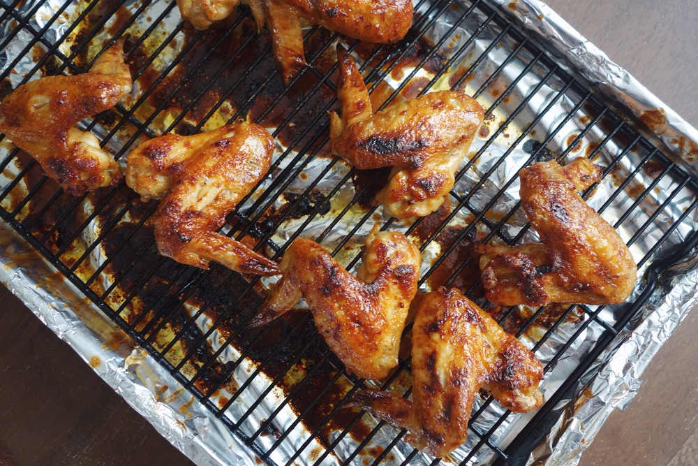 Sriracha Honey Butter Chicken Wings Recipe | Bites & Bourbon - Brenda Ton