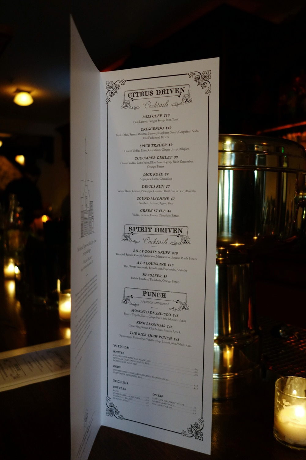 Tupper & Reed Menu - Berkeley | Bites & Bourbon