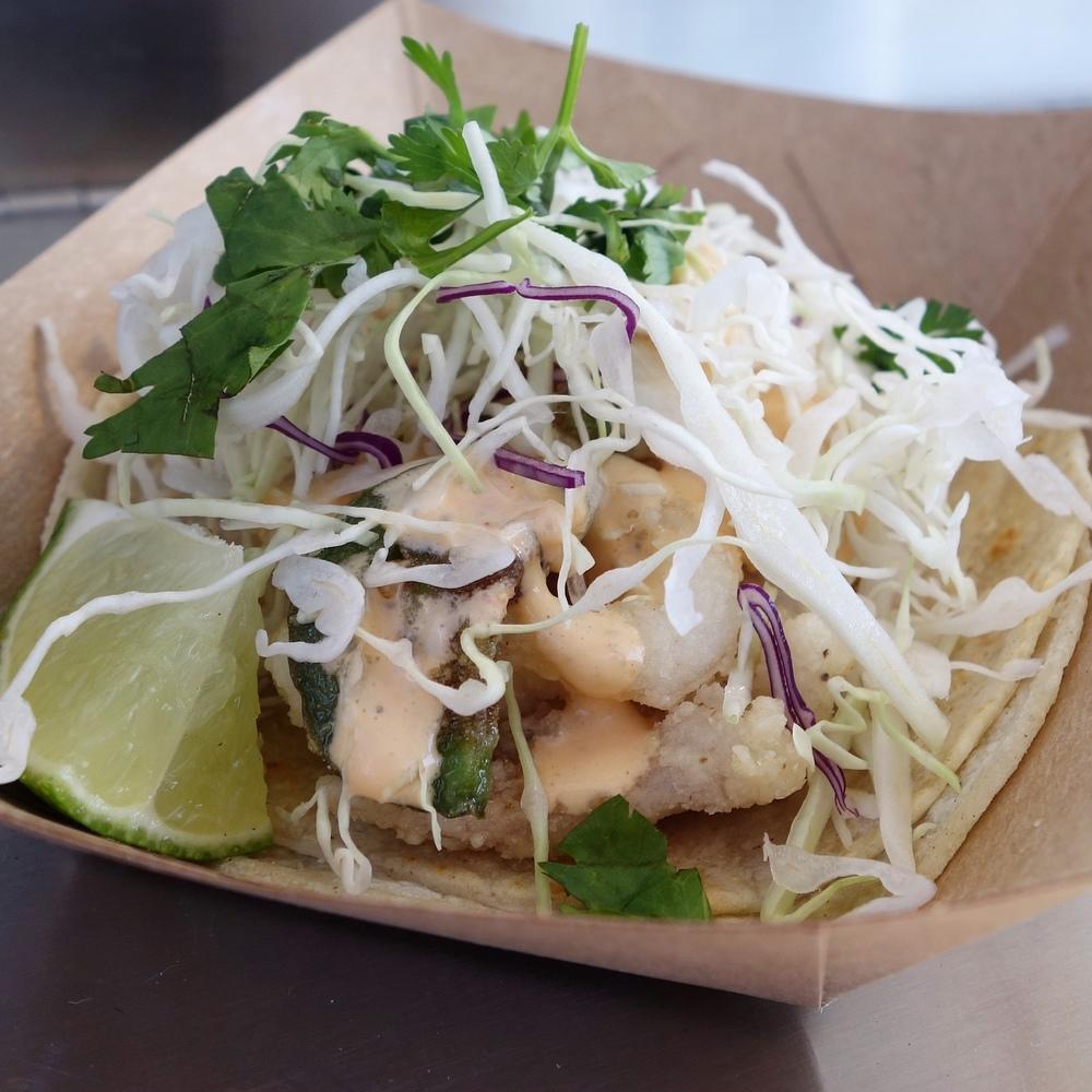 Fried Calamari Tacos from Eat on Monday