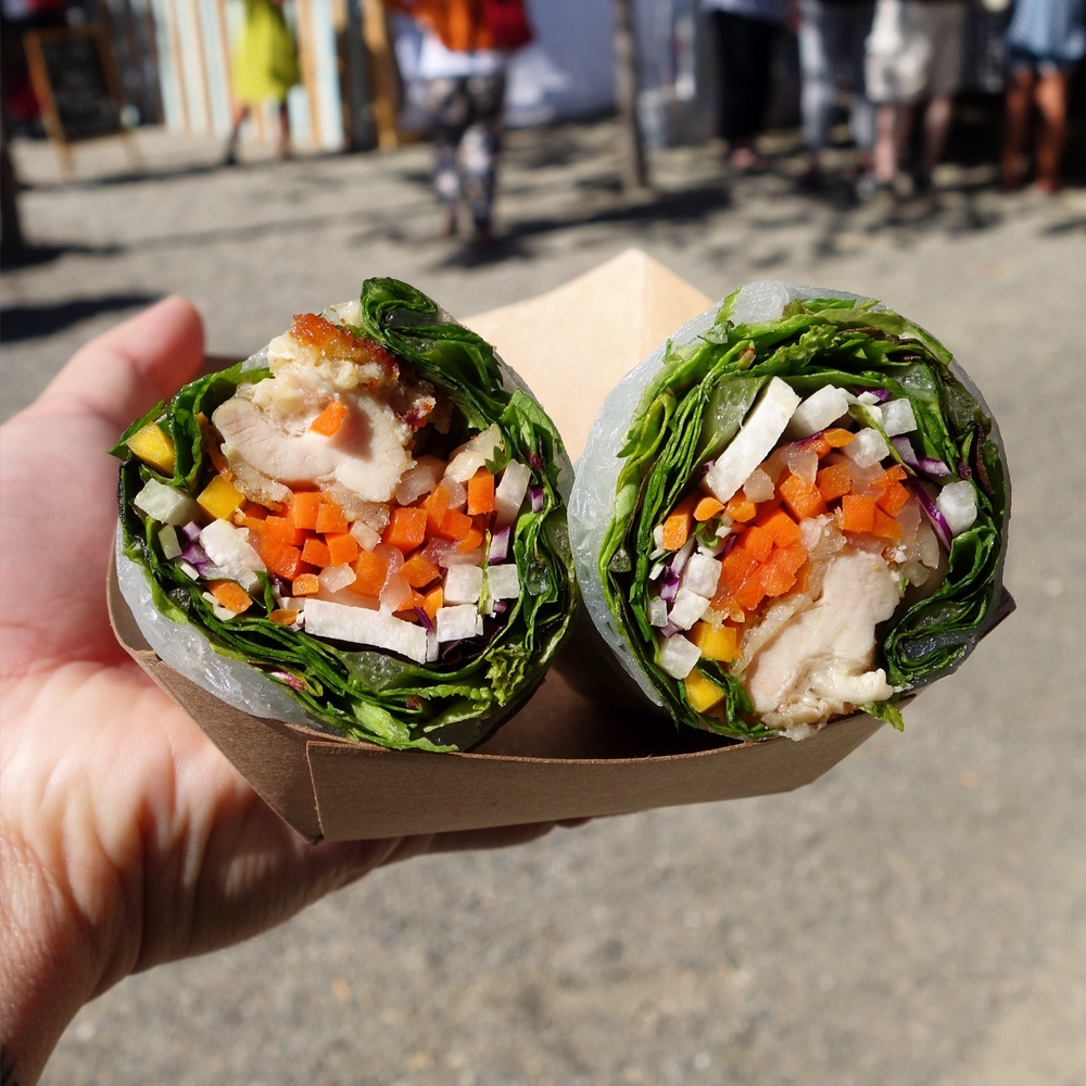 Fried Chicken Spring Rolls from Bicycle Banh M