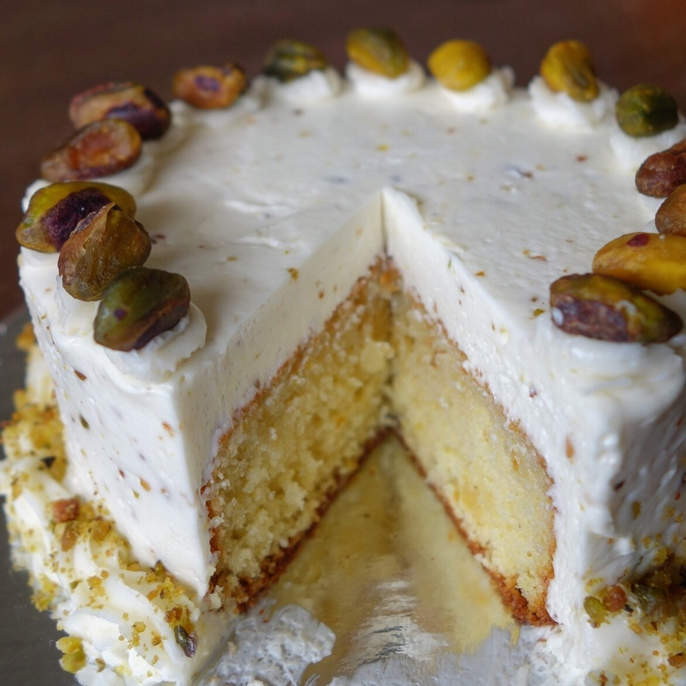 Bacano Bakery - Orange Almond Pistachio Cake