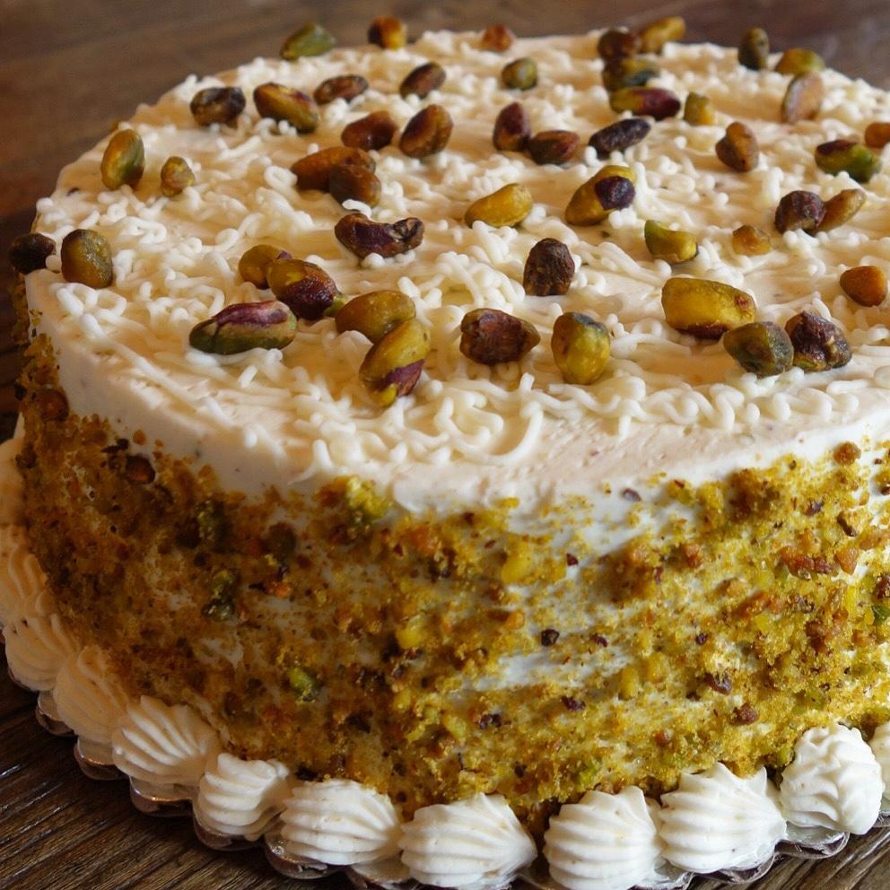 Bacano Bakery - Orange Almond Pistachio Cake (Large)