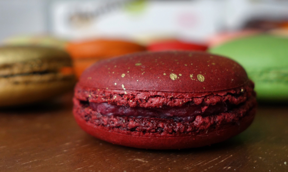 Chantal Guillon Red Velvet Macarons - Fall / Winter 2015
