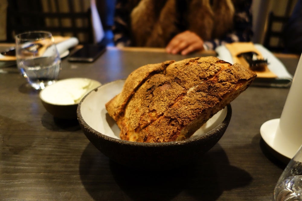 Housemade bread with butter.