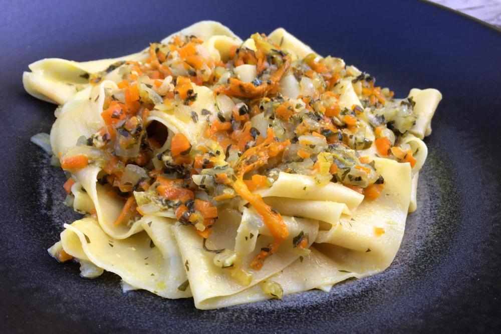 Orangette's Pappardelle with Zucchini Blossom Sauce Recipe