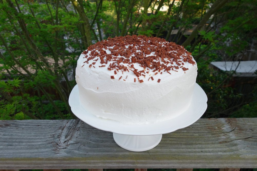Three-Layer Chocolate Sour Cream Cake Recipe - Bites & Bourbon