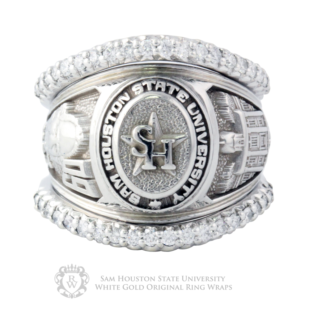 shsu custom cascading front copy rings wraps tcu ring work