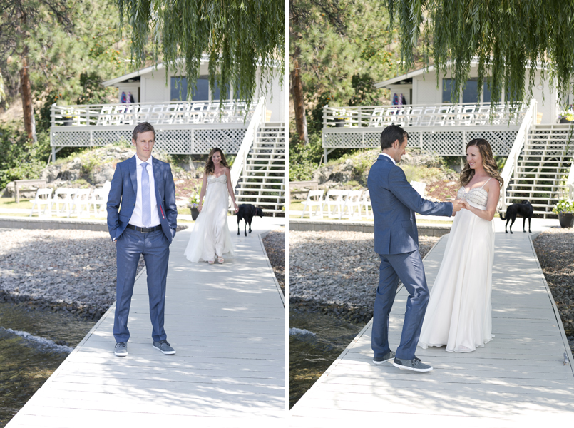 kelowna 1st look wedding photography
