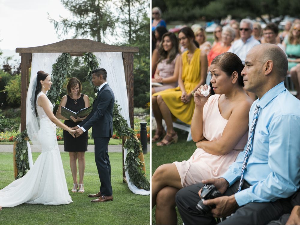 harvest golf wedding ceremony