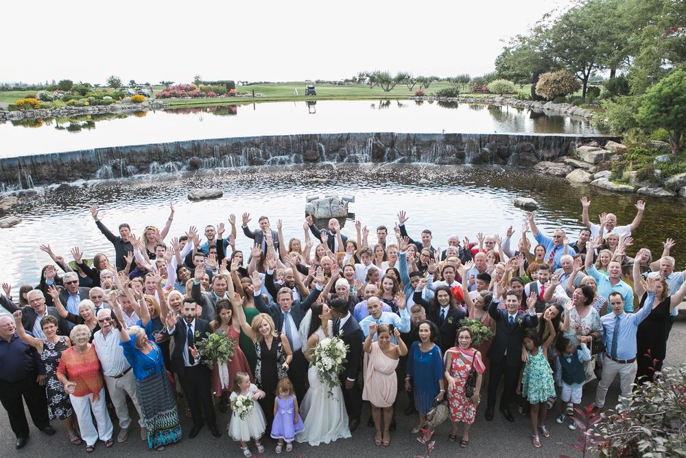 harvest golf wedding ceremony