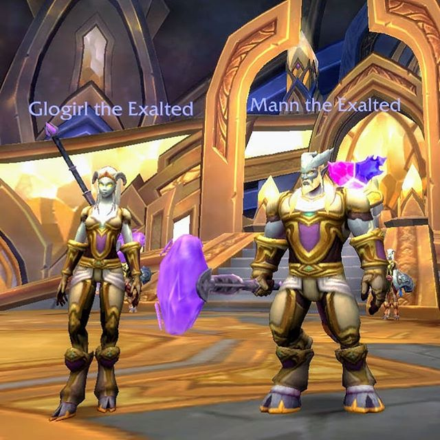 Starting fresh: two brand-new Lightforged Dranei Paladins about to embark on their first adventure #worldofwarcraft #deetwentyguild #battleforazeroth #geeklifestyle