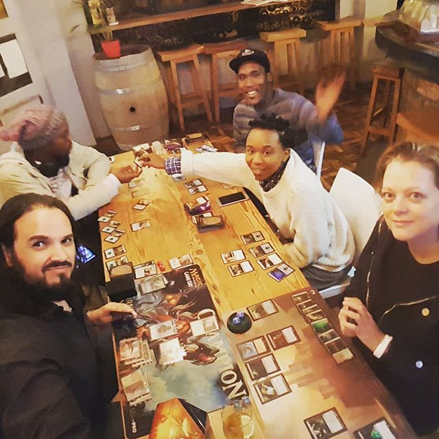 Great coffee, amazing burgers and casual Magic. Friday night in Obs! #fnm #magic #commander #geeklifestyle