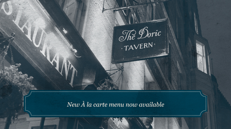 New À la carte menu now available