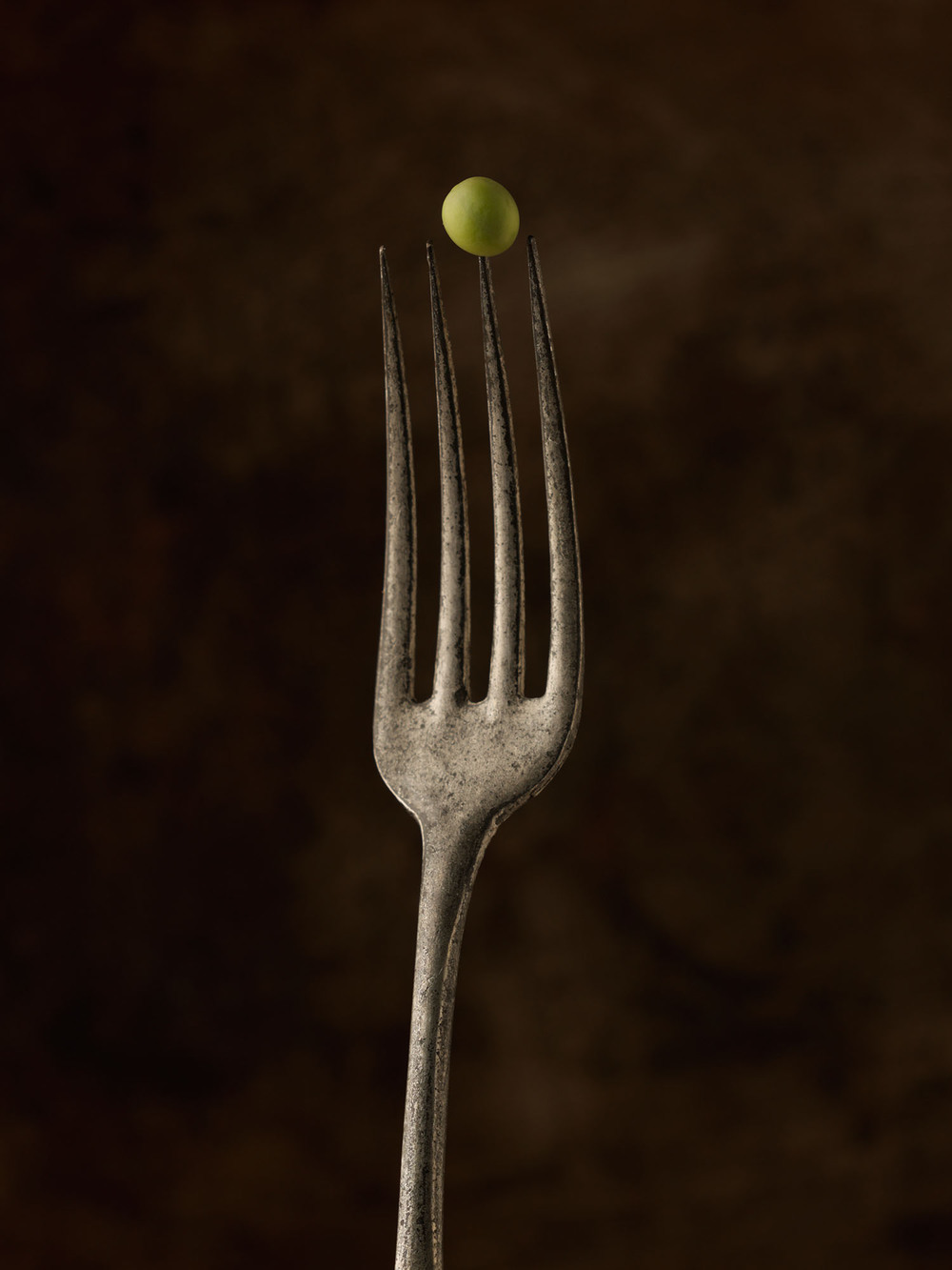 Food Photography Photographer London UK Fork Cutlery Pea