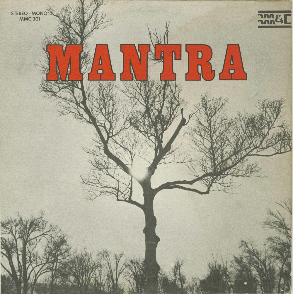 The cover of the self-titled Mantra album from 1970.