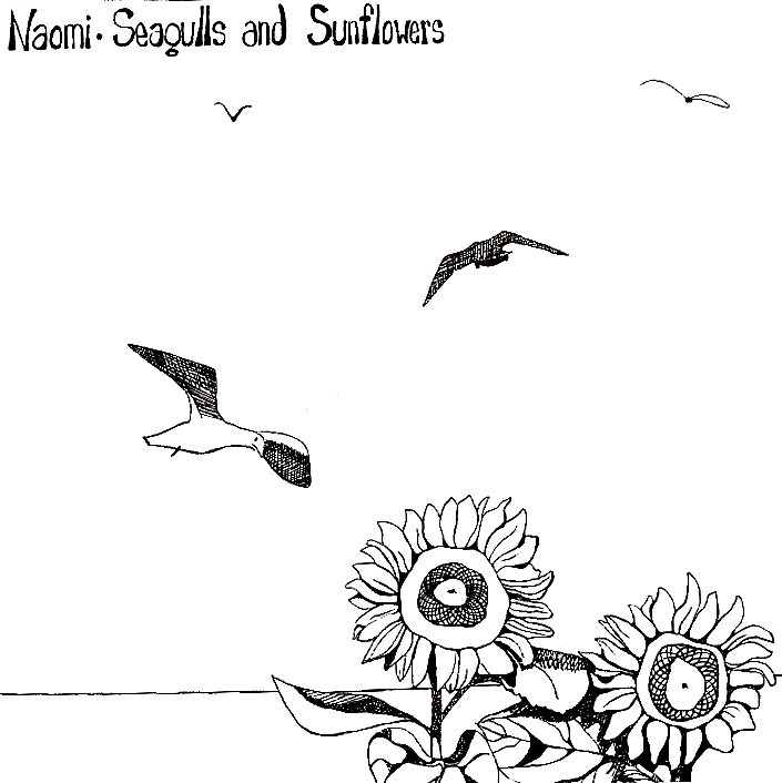 "The illustrative sleeve for ""Seagulls and Sunflowers""  - artwork by Judy Gresko"
