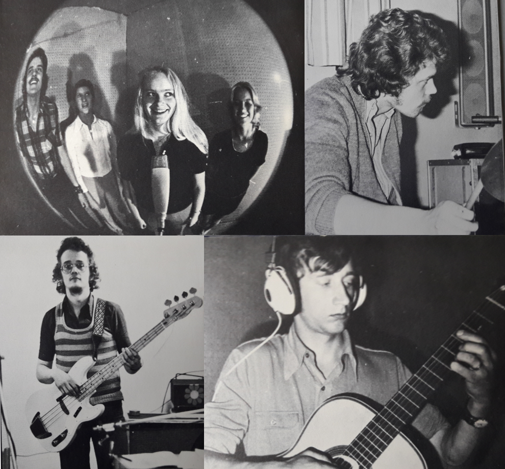 The local backing band that the label owner Inge Eklund put together for the sessions with Ingegerd. Photos taken from the back of the sleeve and credited to Per Högberg.