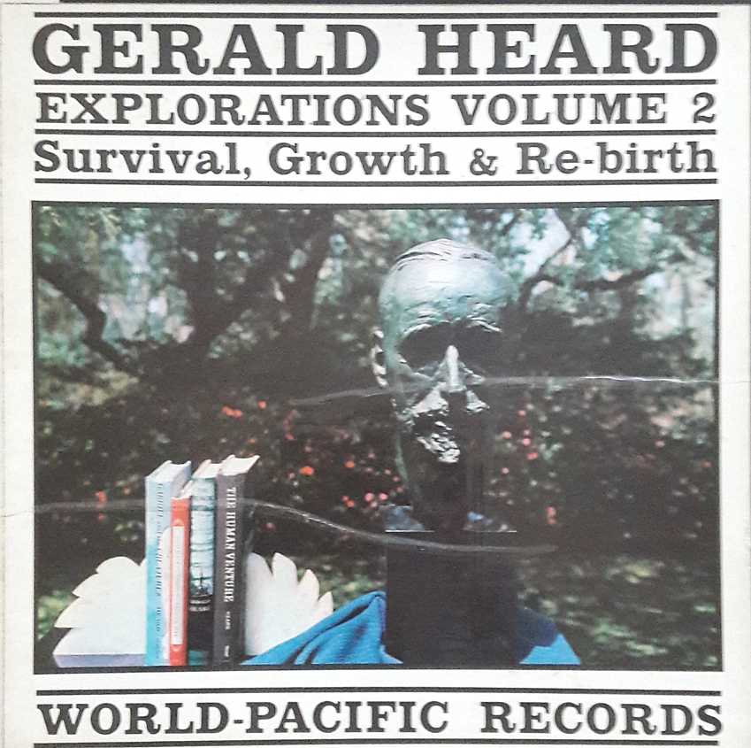 Gerald Heard recorded a spoken word album, Exploration Volume 2 -Survival, Growth and Rebirth, in 1961, which includes some psychedelic passages. For more info on the album please press  here