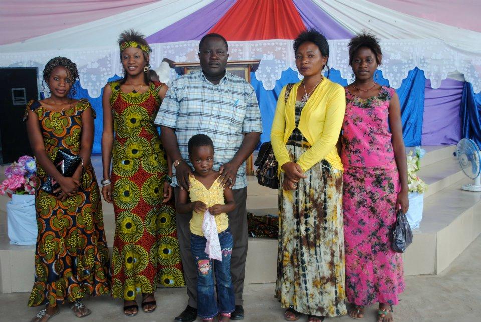 Bishop Alpha Mordekai and his family.