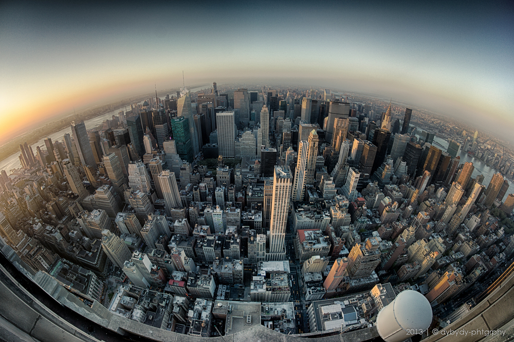 nyc from above  - sony nex 7 | walimex 8 f2.8 | f4.0 | hdr from 3 images, up to ISO1250 | 1/60