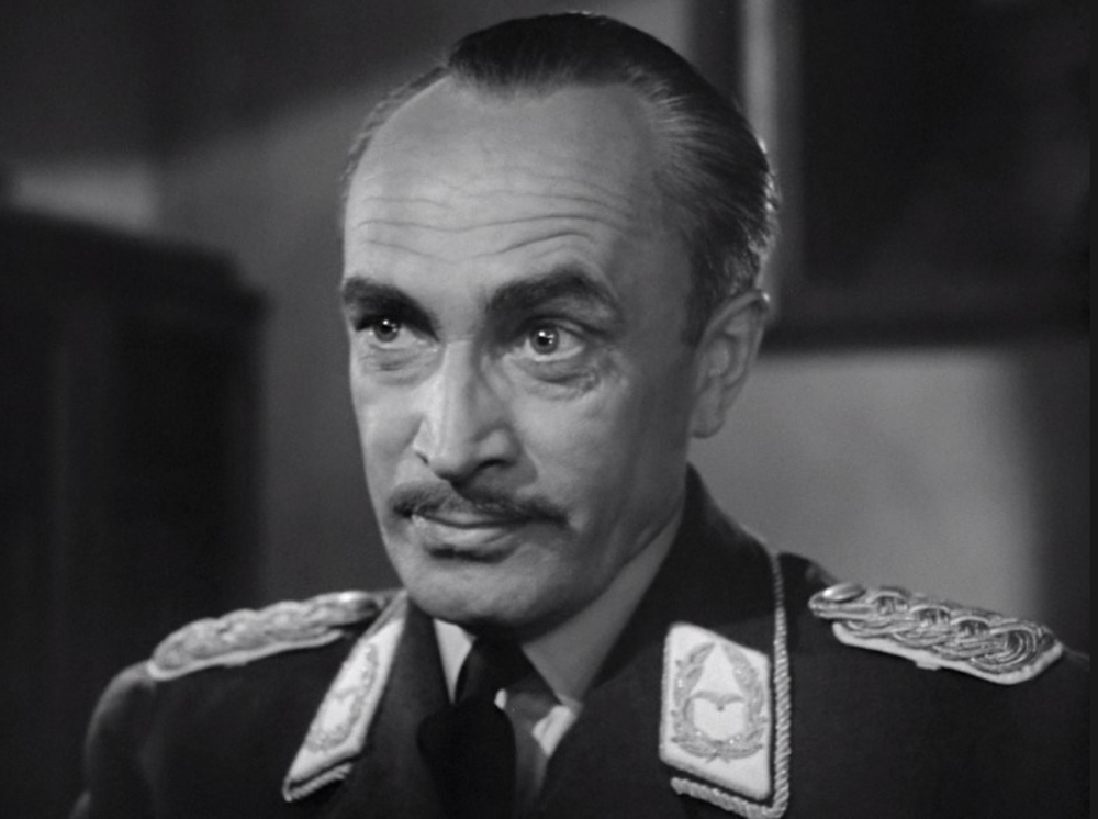 Conrad Veidt as Major Strausser in  Casablanca