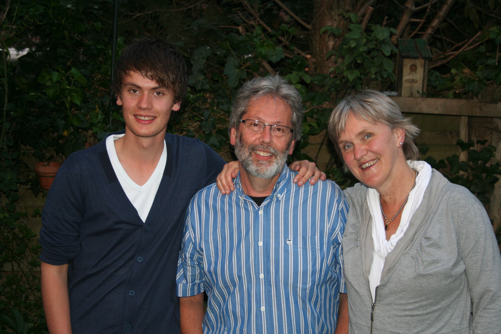 Wouter, Willem and Antonet Mugge at home in Zwolle