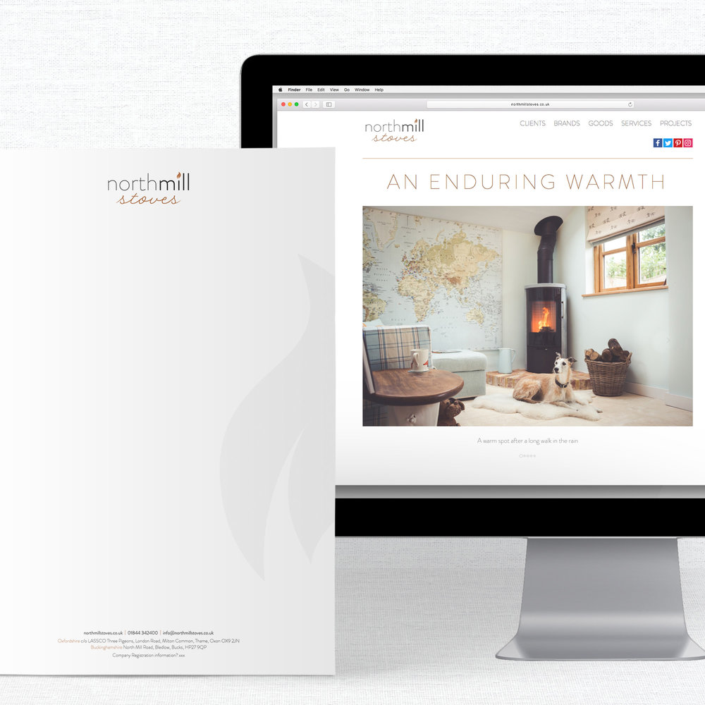 Northmill Stoves Identity Design