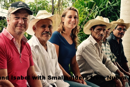 Stephan and Isabel from Rabobank with Smallholders in Nueva Esperanza