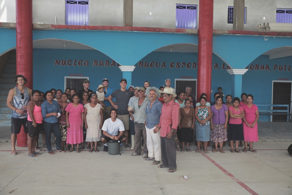 Nueva Esperanza Village greets OBBEAN team