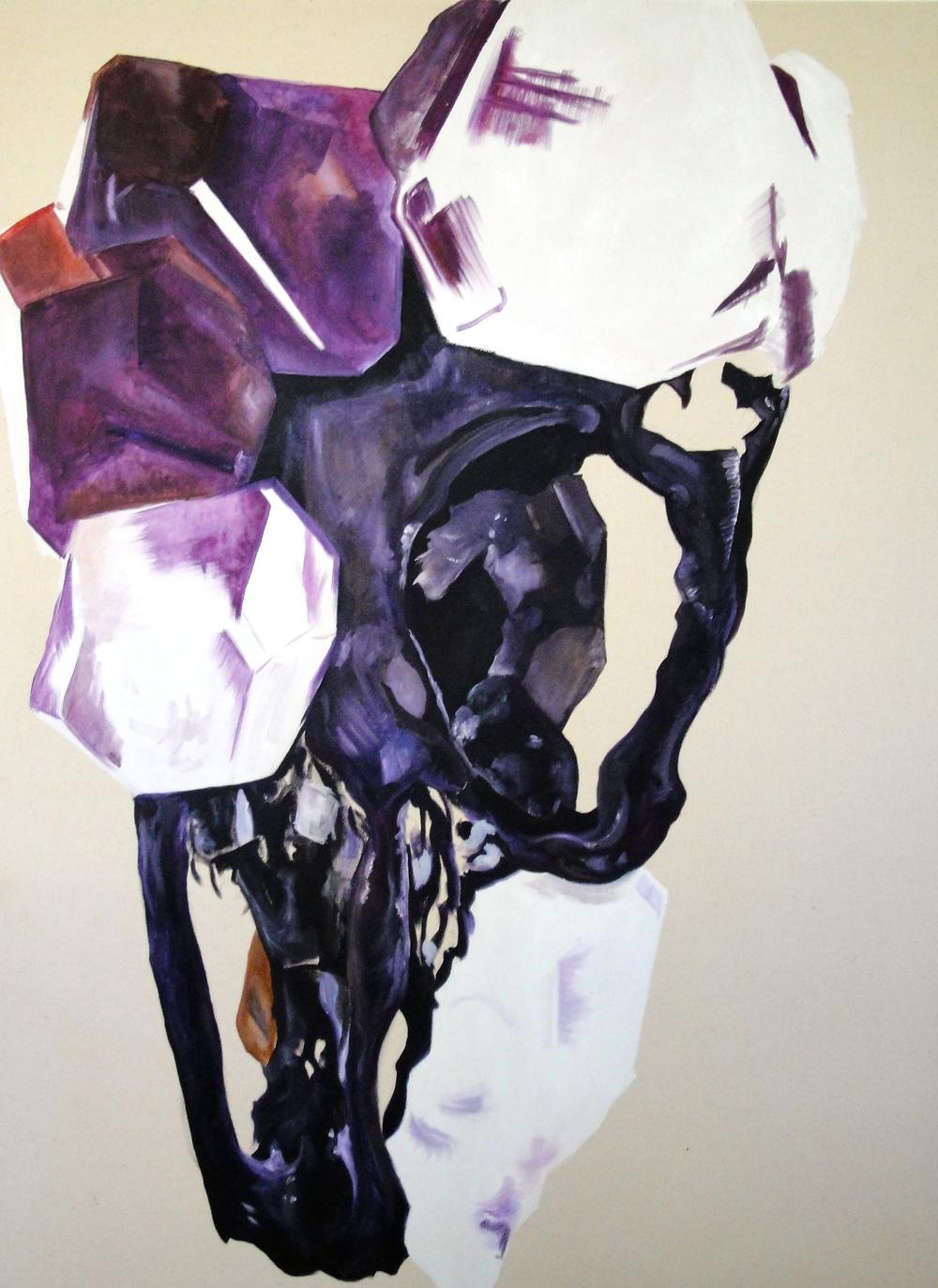 Crystal Skull   3' X 4'  oil on canvas