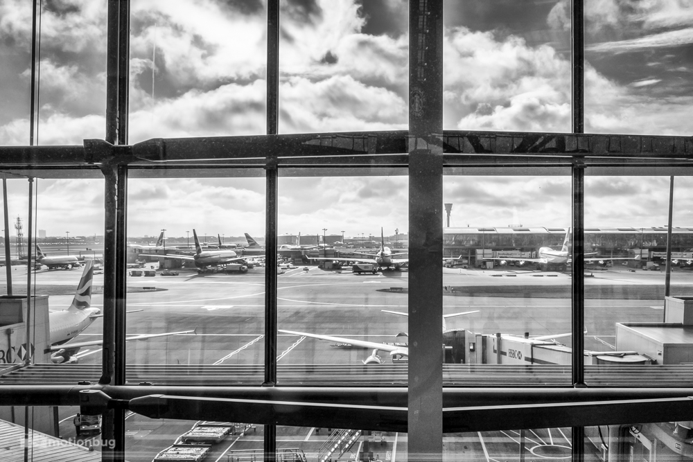 View of LHR Terminal 5 while drinking my morning coffee