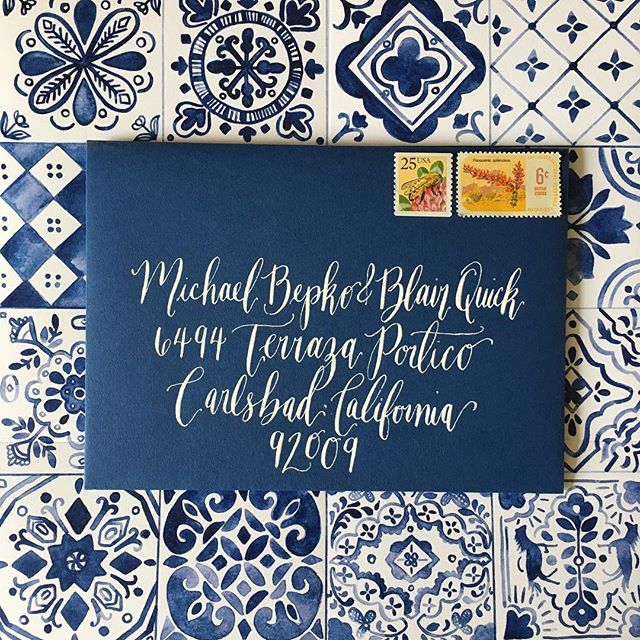 When your clients are literally the sweetest & most fun humans ever you do a million spontaneous happy dances as you come up with their fabulous designs! For B & Ms suite we wove their love story into each tile--can't wait to share the full suite & see @amorology work her magic on their fancy fiesta this weekend!! #becomingbepko #besamemucho #customdesign #customweddingbranding #calligraphy #spanishtiles #watercolor #weddingsuite #weddingbranding #californiawedding #weddinginvitations #fancyfiesta
