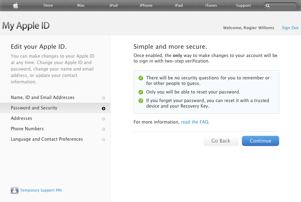 Apple-ID 2-step verification