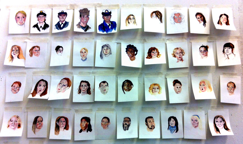 The First Portraits of Military Rape Victims, Gouache, 2013
