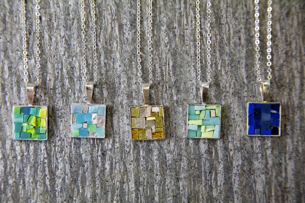 Introducing the Bits of Bling Series! Mosaic Jewelry Set in Sterling Silver