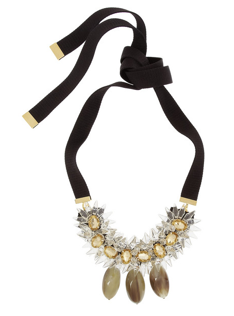 Crystal and horn necklace/Net-A-Porter