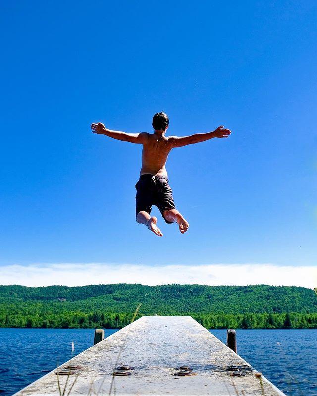 Air Owen  #fujixt2 #fujixseries #huronmountainclub #iveslake #optoutside #getlost #michigan #summer #divingboard #bluesky #ig_myshot #puremichigan