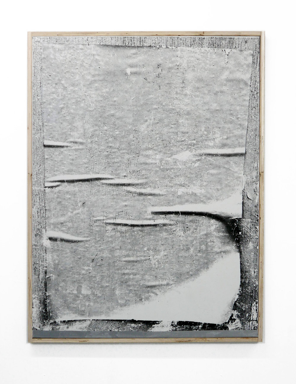Recent History2 2018, 91x121cm Artist frame from Hoarding